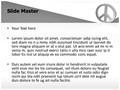 Peace Love Symbol Editable PowerPoint Template