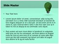 Green Energy Saver Editable PowerPoint Template