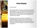Lone Rock Climber Editable PowerPoint Template