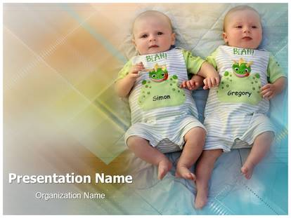 Free Twins Babies Medical Powerpoint Template For Medical
