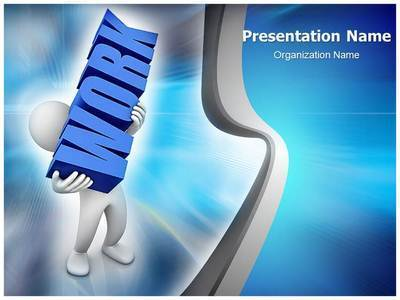 Workplace Work Load Editable PowerPoint Template