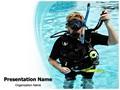 Scuba Diver Editable PowerPoint Template