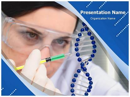 Free Genetic Engineering Medical PowerPoint Template for