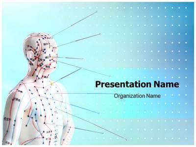 Alternative Medicine Acupuncture Editable PowerPoint Template