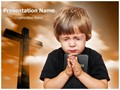 Praying Editable PowerPoint Template