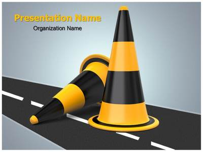 Traffic Cones Editable PowerPoint Template