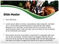 Horse And Jockey Editable PowerPoint Template