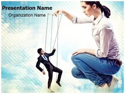 Businesswoman Leadership Editable PowerPoint Template