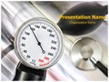 Stethoscope And Pressure Meter Editable PowerPoint Template