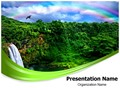 Waterfall And Rainbow Editable PowerPoint Template