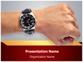 Fashion Accessory Wristwatch Editable PowerPoint Template