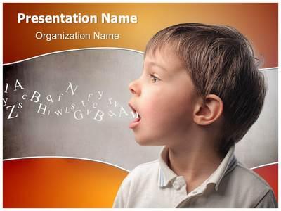 Child speaking Editable PowerPoint Template