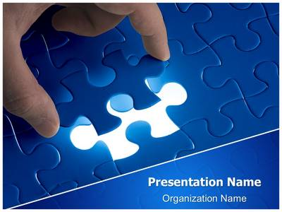 Missing Puzzle Editable PowerPoint Template