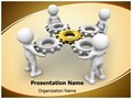 Gear Mechanism Team Editable PowerPoint Template