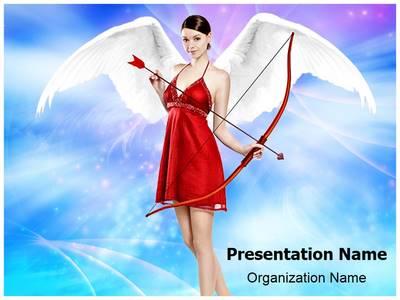 Cupid angel Editable PowerPoint Template