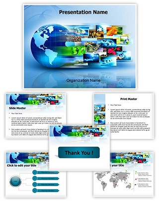 Internet Concept Editable PowerPoint Template