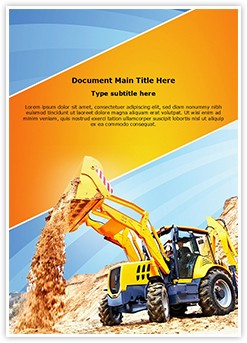 Wheel loader Excavator Editable Word Template