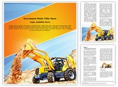 Wheel loader Excavator Template
