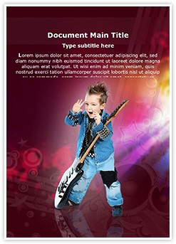 Child Rock artist Editable Word Template
