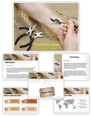 Biochip in Hand Editable PowerPoint Template