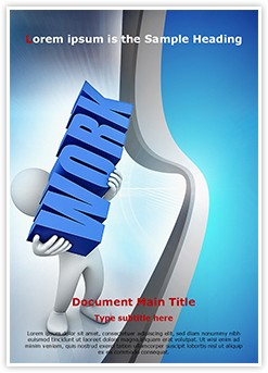 Workplace Work Load Editable Word Template