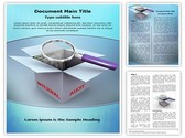 3d magnifier Editable Word Template