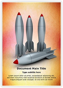 3D Rockets Editable Word Template