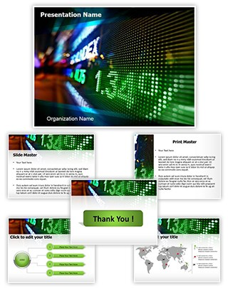 Professional stock market display editable powerpoint template for Stock market ppt templates free download