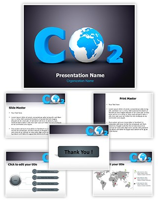 Carbon Dioxide Editable PowerPoint Template
