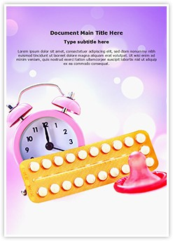 Contraceptives Editable Word Template