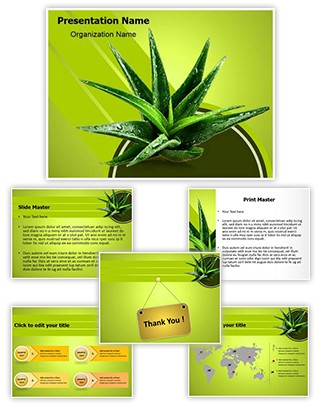 Aloe Vera Herbal Medicine Editable PowerPoint Template