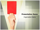 Referee Penalty Red Card Editable PowerPoint Template