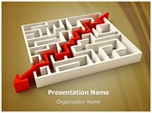 Solved Maze Puzzle Editable PowerPoint Template