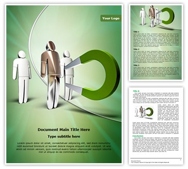 Magnet attracting Editable Word Document Template