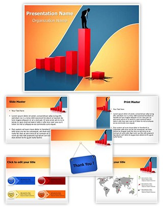 Economic Financial Crisis Editable PowerPoint Template