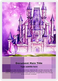 Fairytale castle Editable Word Template