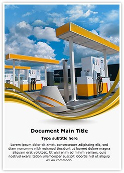 Gas Station Editable Word Template