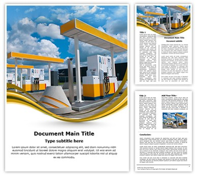 Gas Station Editable Word Document Template