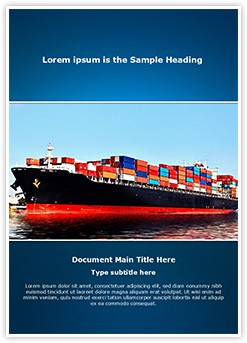 Cargo Ship Editable Word Template