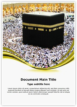 Makkah Editable Word Template
