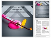 Dental Curing Light Tool Editable PowerPoint Template