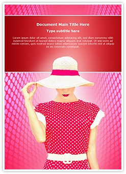 Fashion Polka Dots Editable Word Template
