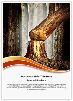 Tree Cutting Deforestation Editable Word Template