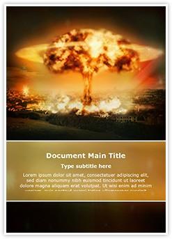Nuclear bomb explosion Editable Word Template