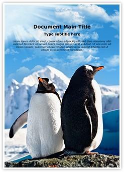 Penguins Editable Word Template