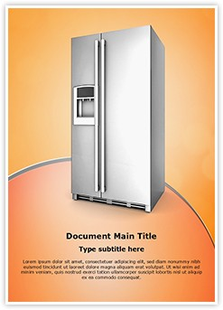 Refrigerator Editable Word Template