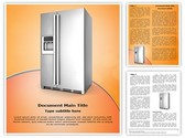 Refrigerator Editable Word Template