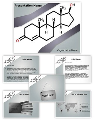 Testosterone Deficiency Editable PowerPoint Template