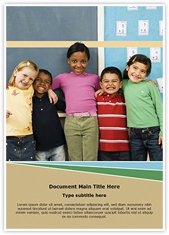 diverse kids Editable Word Template