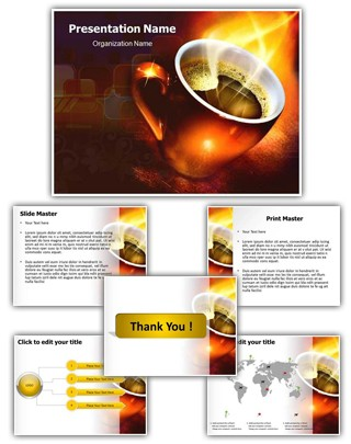 Coffee Editable PowerPoint Template